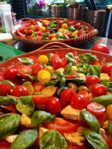 Frisse salade met tomaatjes