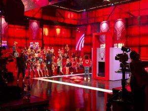 Cateren op de set